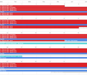 Shutdown Calendar snapshot